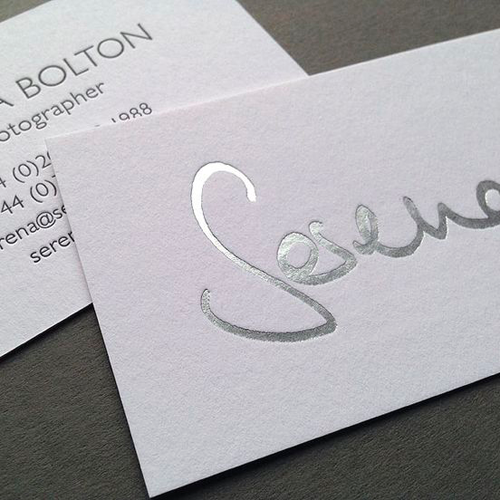 2 Sided Business Cards with Foil or Emboss