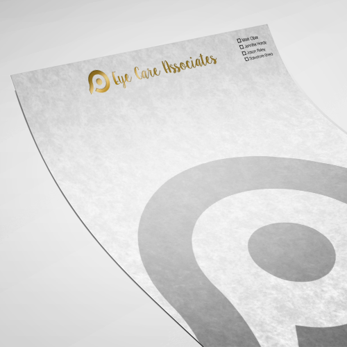 Letterheads with Foil